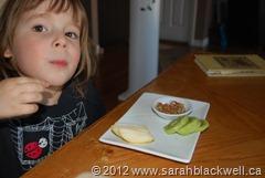 Enjoying a Snack